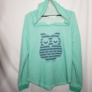 Liberty Love Mint Green Owl Hoodie
